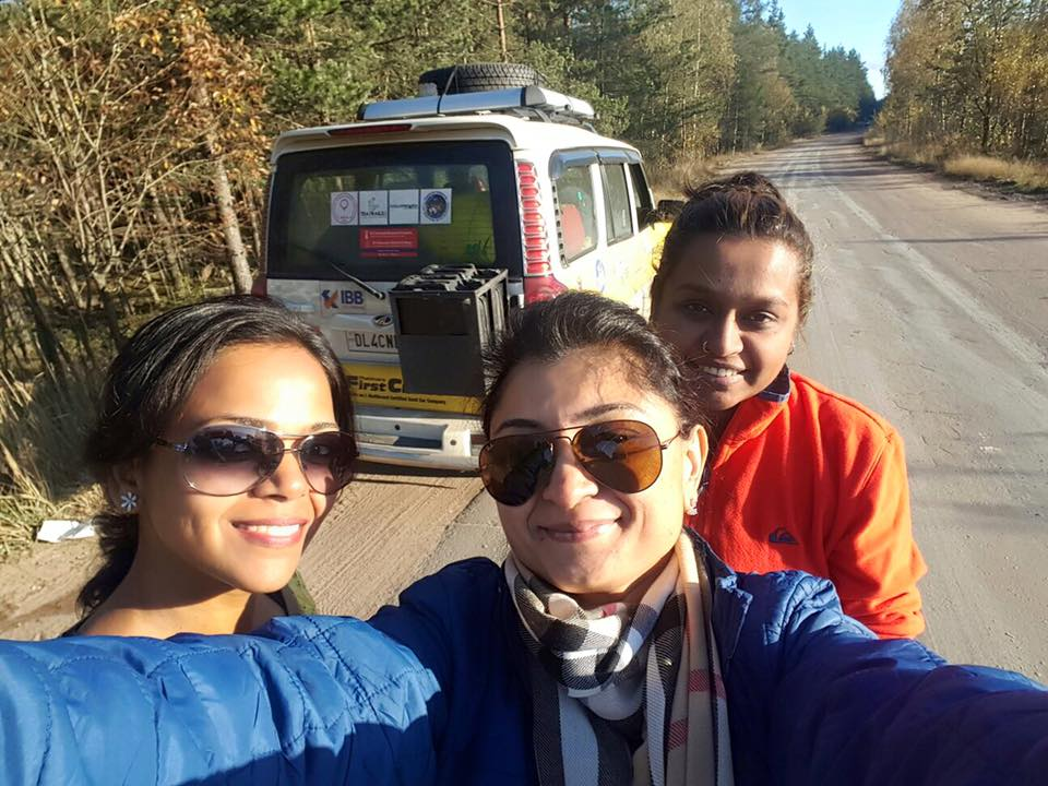 Three Adventurous Indian Mothers Drove From Delhi To London