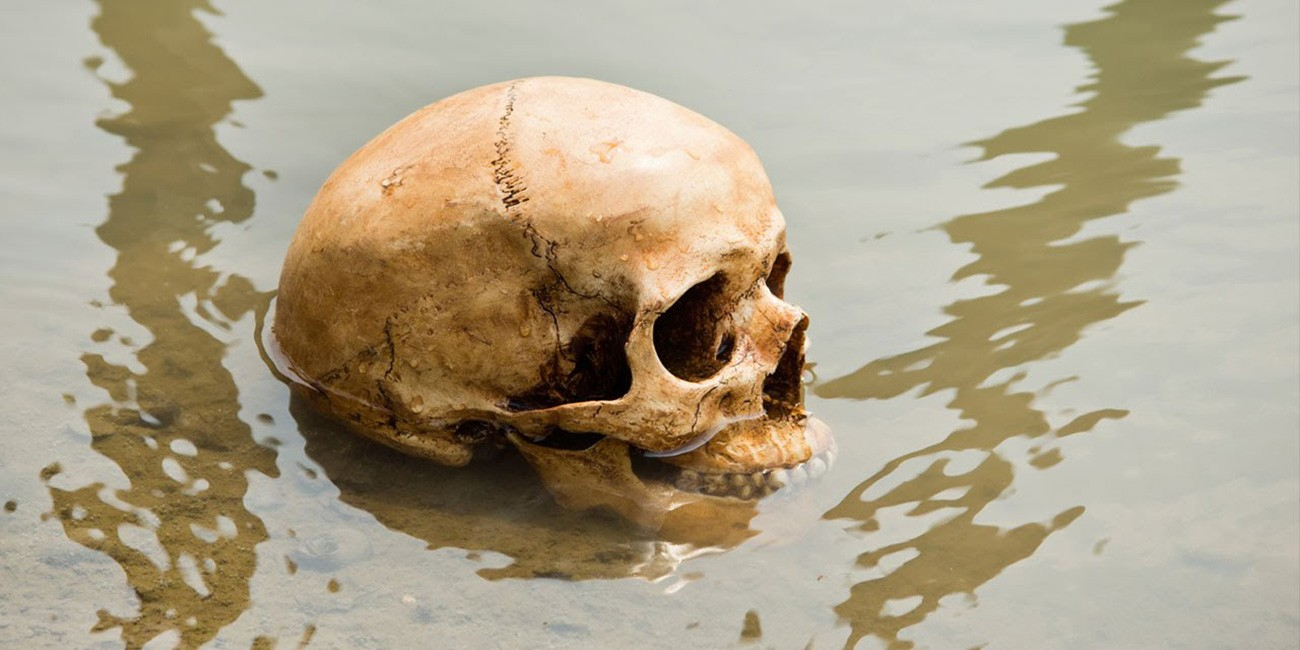 Image result for human skeletons roopkund lake