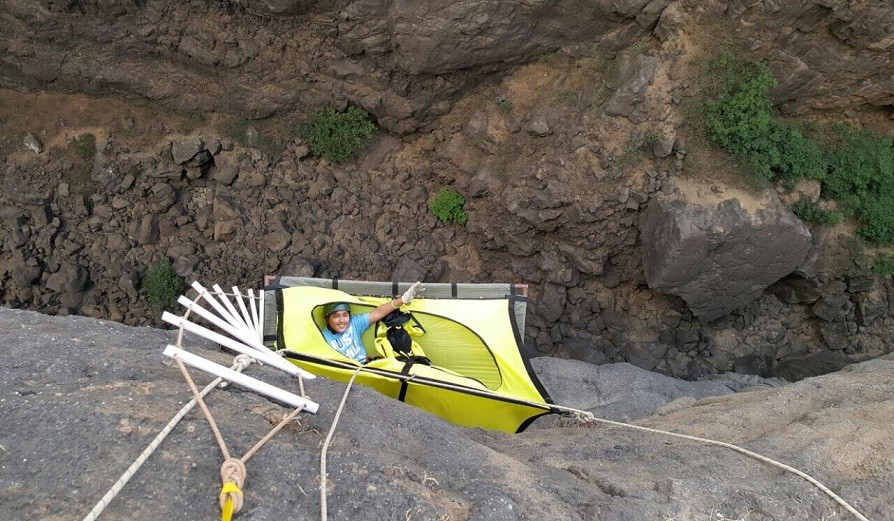 Sandhan Valley Hanging Tent Rappeling Trekking Valley Crossing C&ing & Sandhan Valley Hanging Tents Camp | Adventures365.in